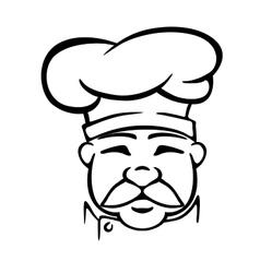 Chef in traditional uniform vector