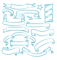 collection hand drawn banners vector image