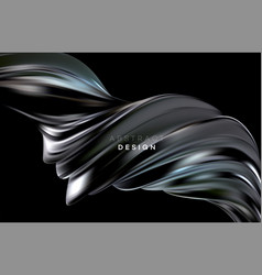color flow abstract shape poster design vector image