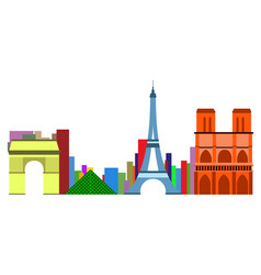 colored cityscape of paris vector image