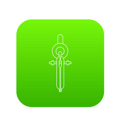 compass icon green vector image
