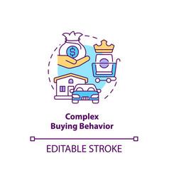 Complex buying behavior concept icon vector