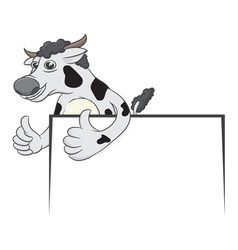 cow and board vector image