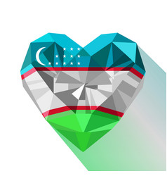 Crystal heart of the republic of uzbekistan vector