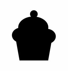 cupcake dark silhouette vector image