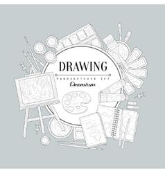 Drawing Set Vintage Sketch vector image