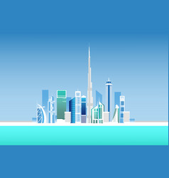 Dubai city vector