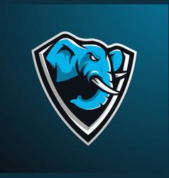 Elephant gaming logo vector
