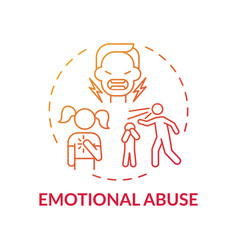 emotional abuse red gradient concept icon vector image