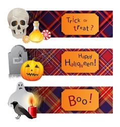English Halloween vector image