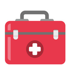 first aid kit cartoon vector image