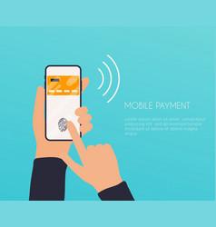Flat design concepts online payment methods vector