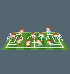 football sport play field grass soccer game teams vector image