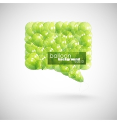Green balloon speech bubble vector