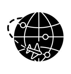 International trade black glyph icon export vector