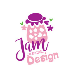 jam original logo design emblem for confectionery vector image