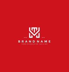 Letter mt logo design vector