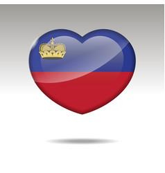 Love liechtenstein symbol heart flag icon vector