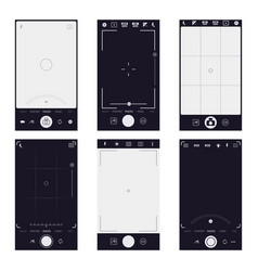 mobile viewfinder interface smartphone camera vector image