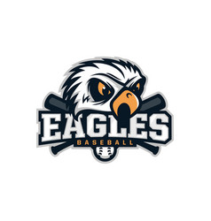 modern professional emblem eagles for baseball vector image