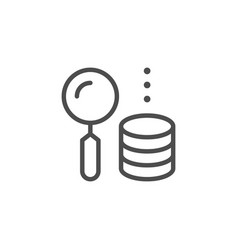 money searching line icon vector image