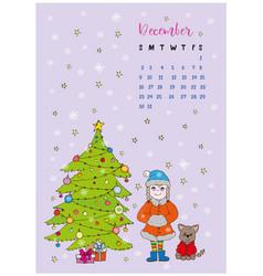 month calendar december 2018 vector image