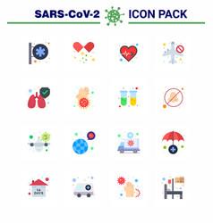 Novel coronavirus 2019-ncov 16 flat color icon vector