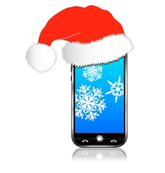 Phone christmas gift vector