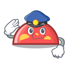 Police semicircle character cartoon style vector