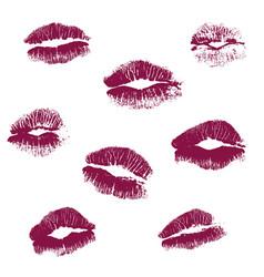 Real kiss lipstick female vector