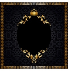 Royal background with frame vector image