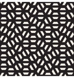 Seamless black and white hexagon shape vector