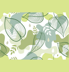 seamless pattern with organic shape blots vector image