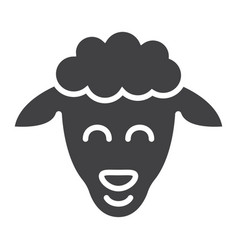 sheep glyph icon easter and holiday lamb sign vector image