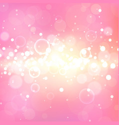 Shining pink background with light effects magic vector