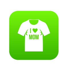 shirt with print icon digital green vector image