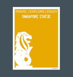 singapore statue singapore monument landmark vector image