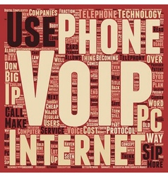 SIP Telephony Another Way to Save Money text vector image