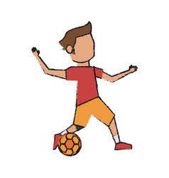 Soccer player design vector