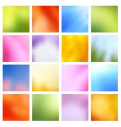 spring landscape blurred backgrounds vector image