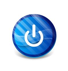 Start power button ui icon design on off symbol vector
