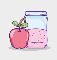 summer apple juice vector image