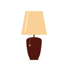 table or floor lamp and lighting switch vector image
