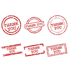 thank you stamps vector image