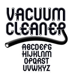 Upper case modern alphabet letters set funky vector