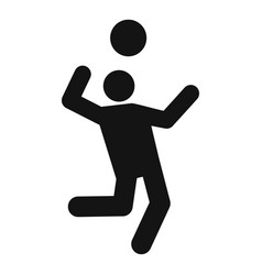 volleyball icon simple style vector image