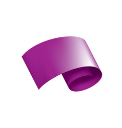 waving the purple flag on a white background vector image