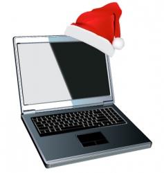 Christmas laptop design vector image vector image