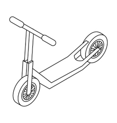 Scooter icon in outline style isolated on white vector image