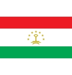 Tajikistan flag image vector image vector image